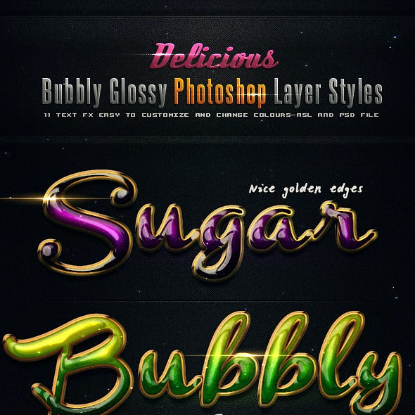 Delicious Bubbly Photoshop Styles