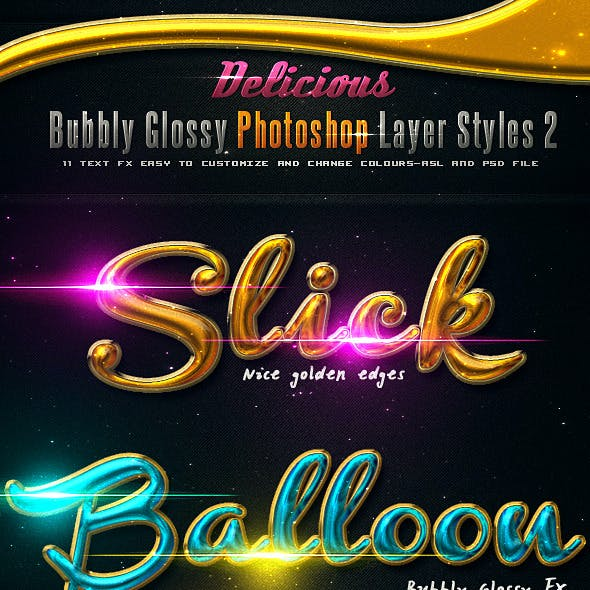 Delicious Bubbly Photoshop Styles 2