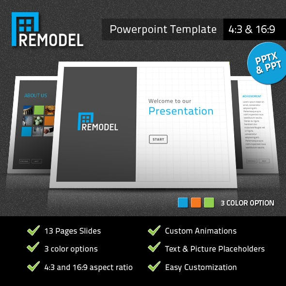 Remodel Powerpoint Presentation Template