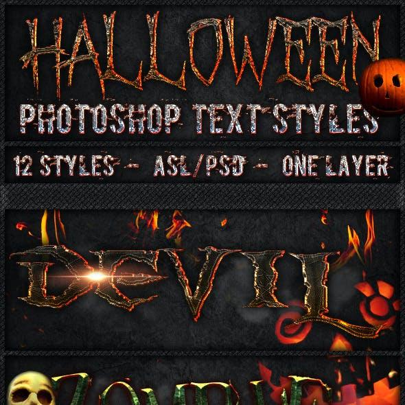 Halloween - Text Styles