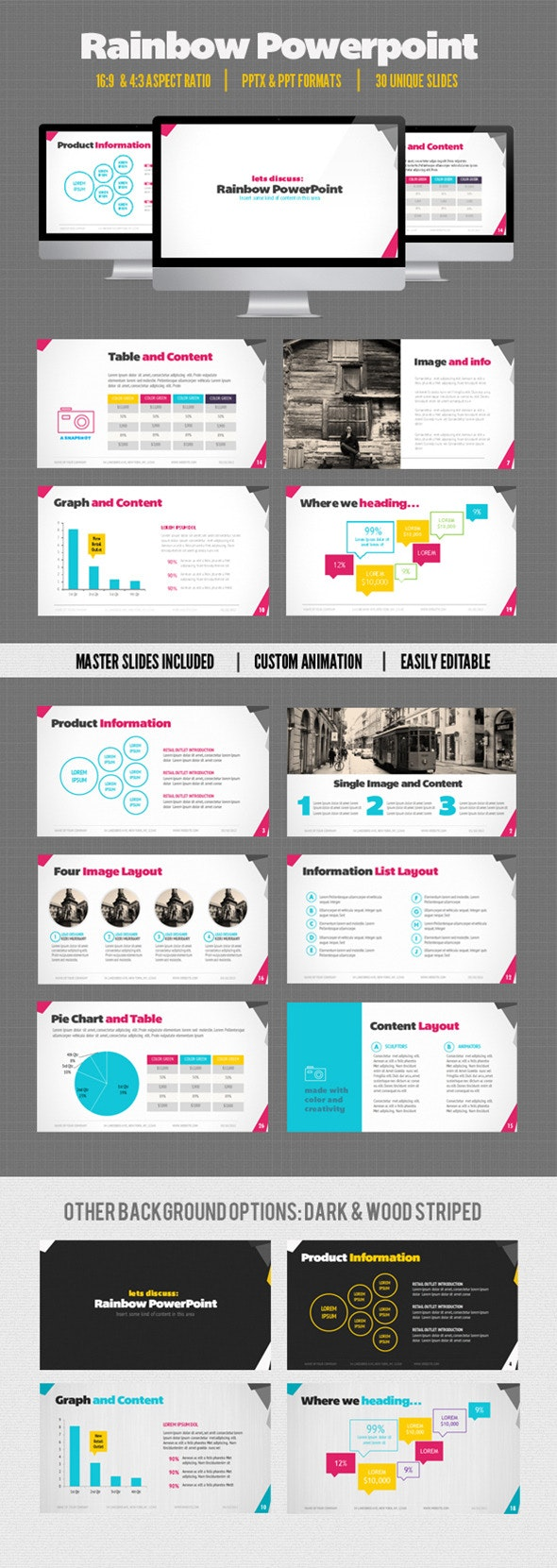 Rainbow Presentation - Business PowerPoint Templates