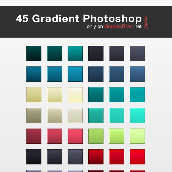 45 HQ Gradient Set for Photoshop - Pack 2