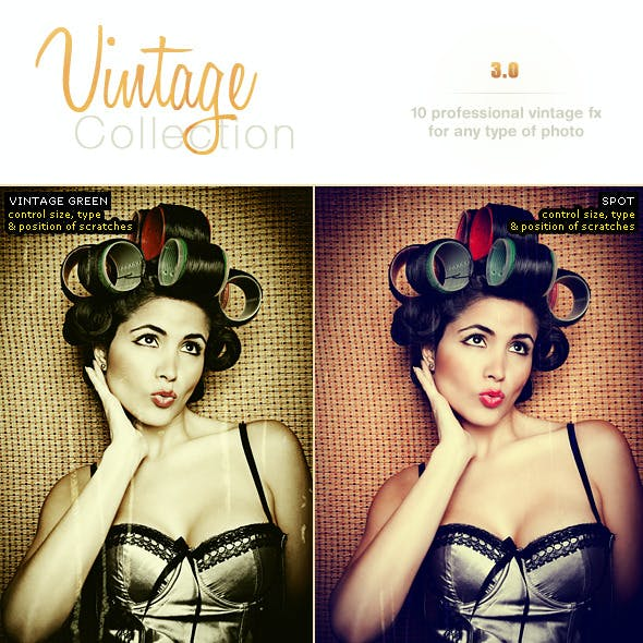 Vintage Pro Collection Photo Effects | Vol 3.0