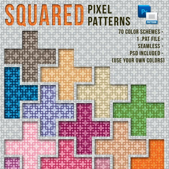 Colorful Squared Pixel Patterns