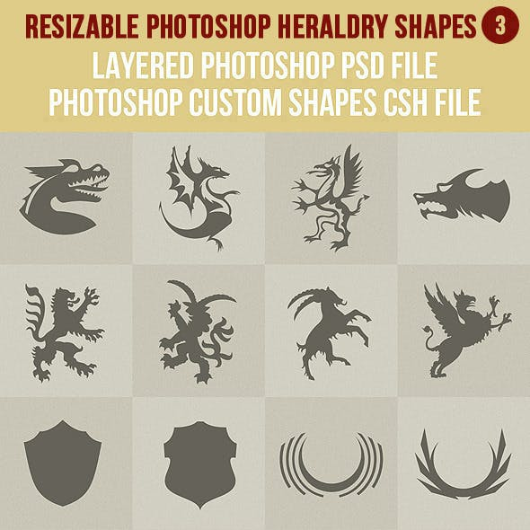 Photoshop Heraldry Shapes 3