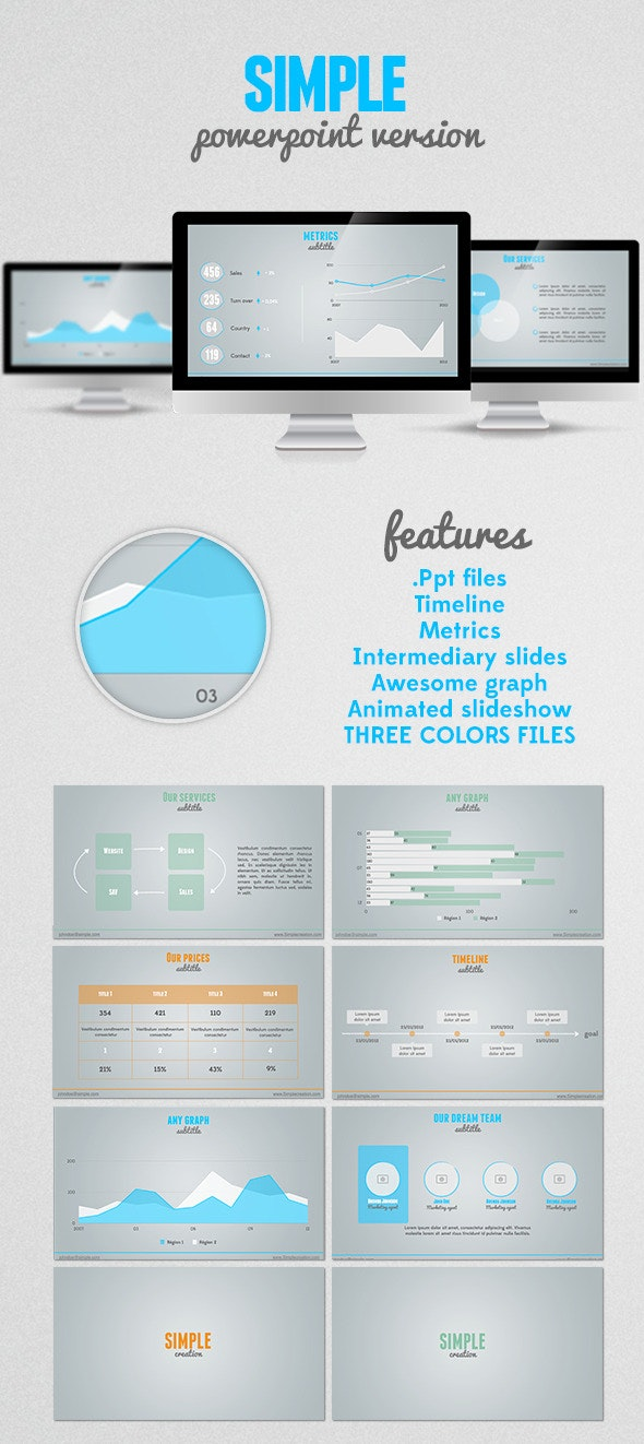 SIMPLE Powerpoint presentation - PowerPoint Templates Presentation Templates
