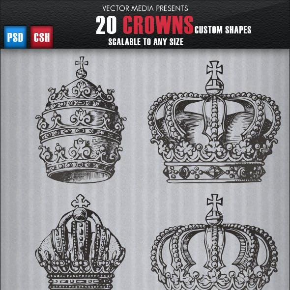 20 Crowns - Custom Shapes