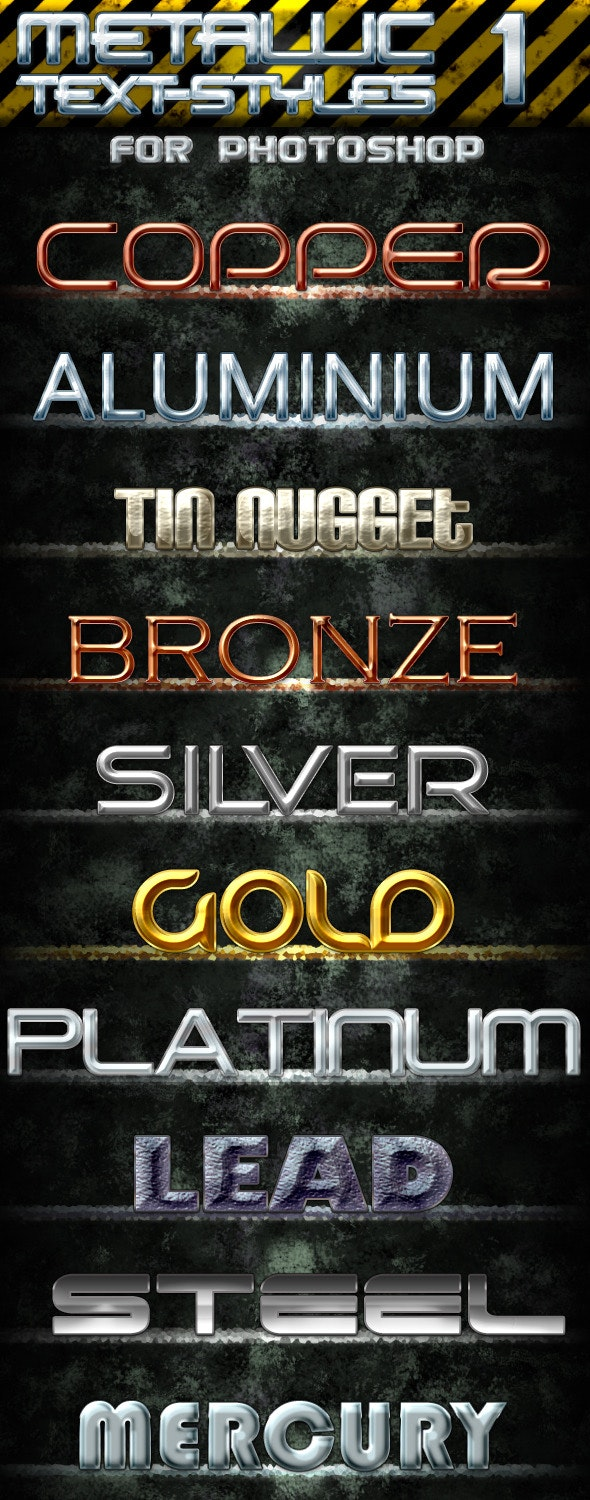 Metallic Text Styles 1 - Text Effects Styles