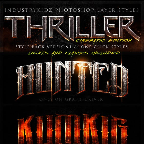Thriller Cinematic Photoshop Layer Styles