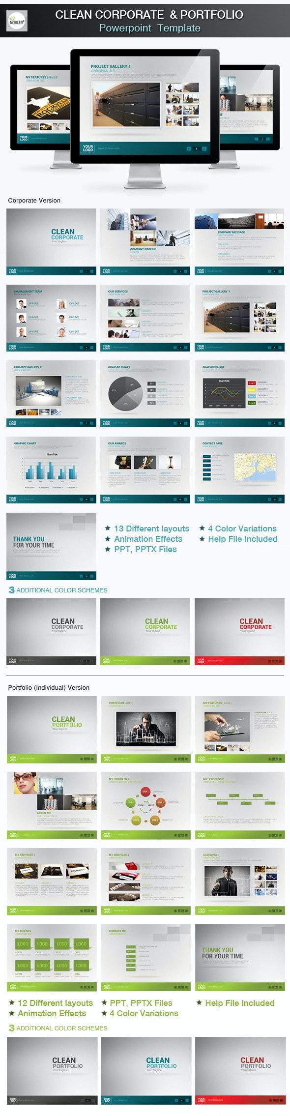 Clean Powerpoint Presentation - Business PowerPoint Templates
