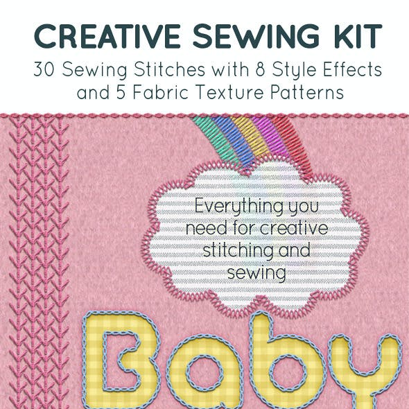 Embroidery & Sewing Stitch and Style Kit
