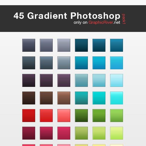 45 HQ Gradient Set for Photoshop - Pack 1