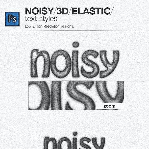 Noisy sketch 3d elastic Styles