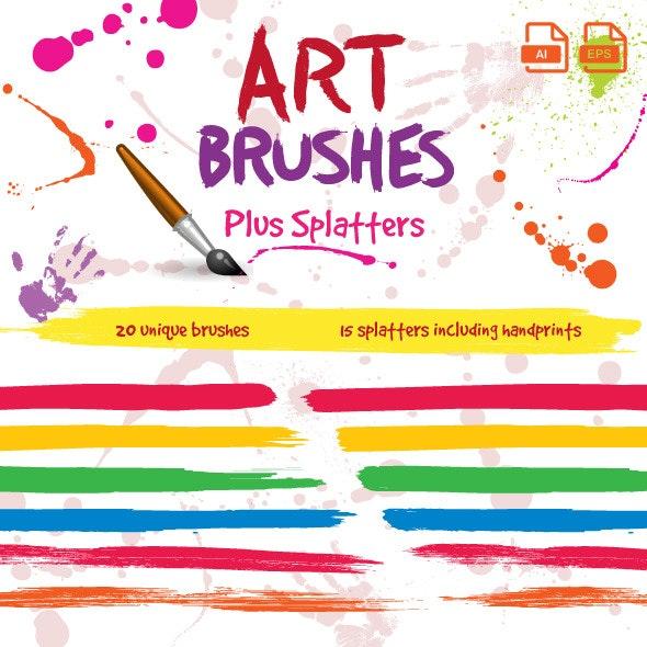 Paintbrush Art Brushes For Illustrator - Artistic Brushes