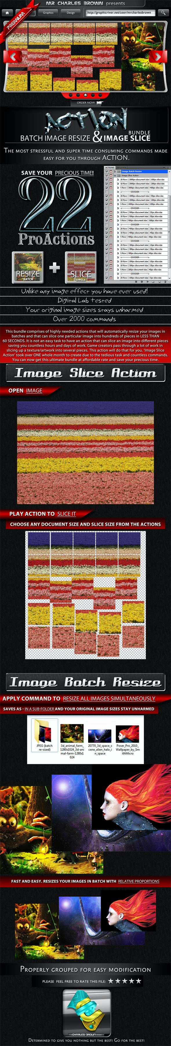 Image Batch Resize and Slice Action Pack - Actions Photoshop