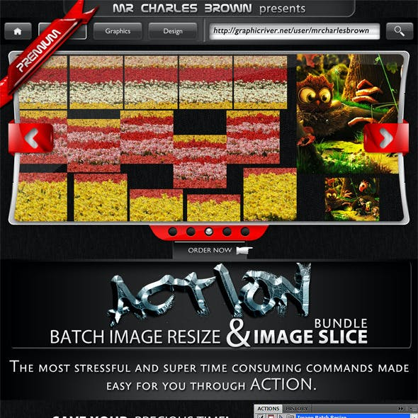 Image Batch Resize and Slice Action Pack