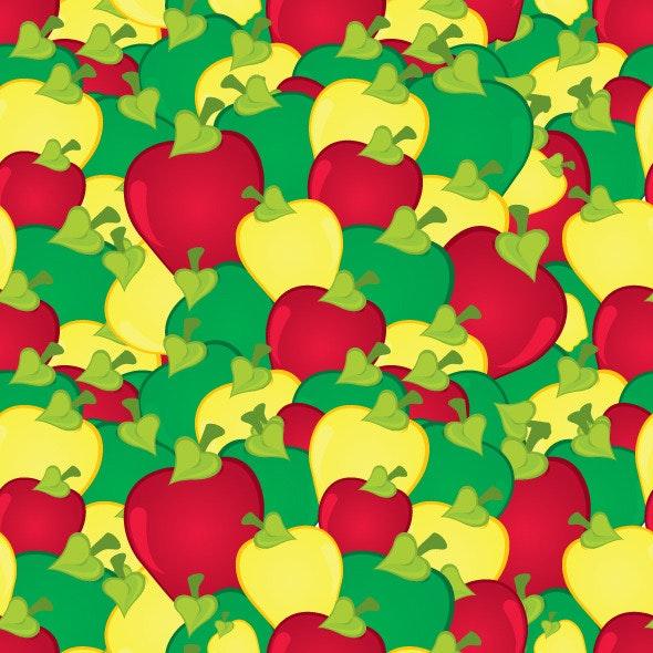 Apples Seamless Pattern - Nature Textures / Fills / Patterns