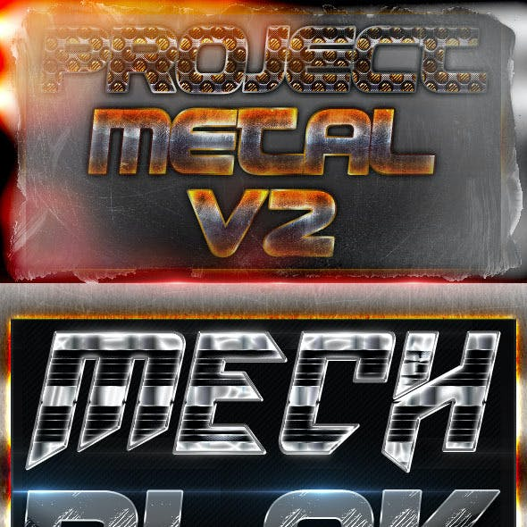Project Metal V2 - Photoshop Text Styles