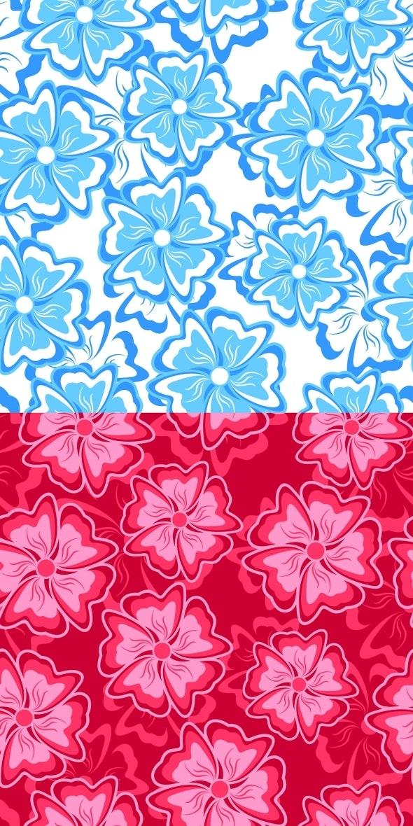 Blue and Crimson Seamless Background - Textures / Fills / Patterns Illustrator