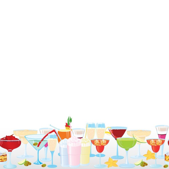 Vector Illustration of Cocktail Borders