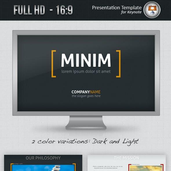 Minim Keynote Template