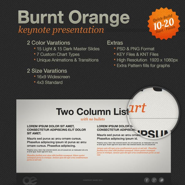 Burnt Orange Presentation