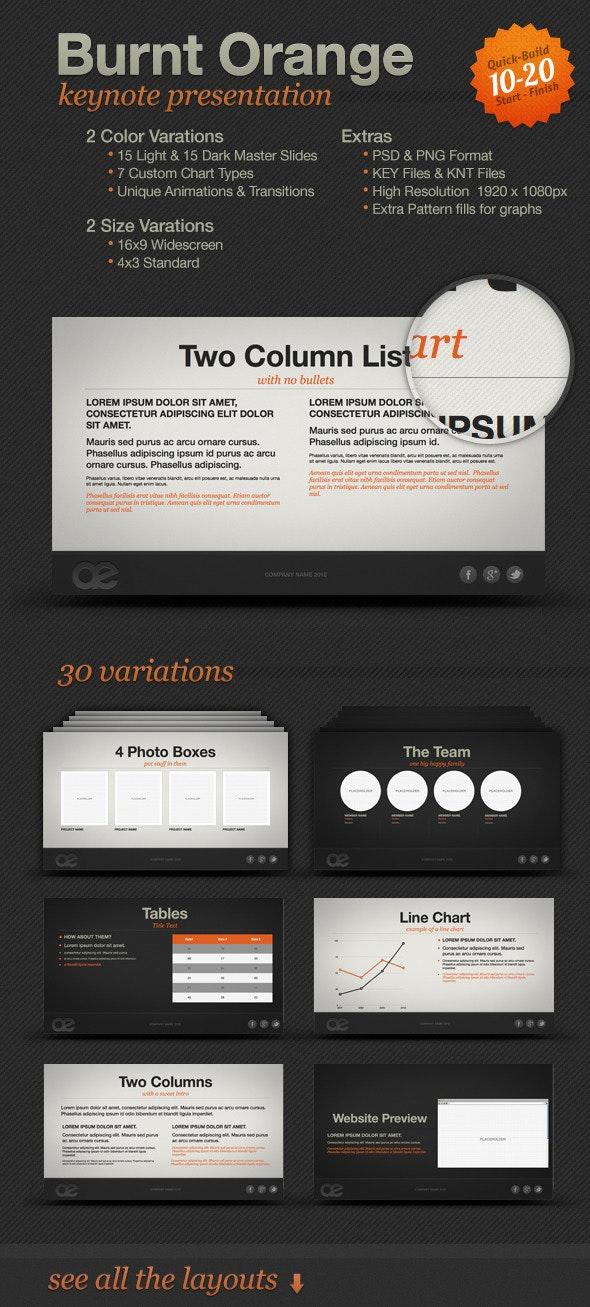 Burnt Orange Presentation - Presentation Templates