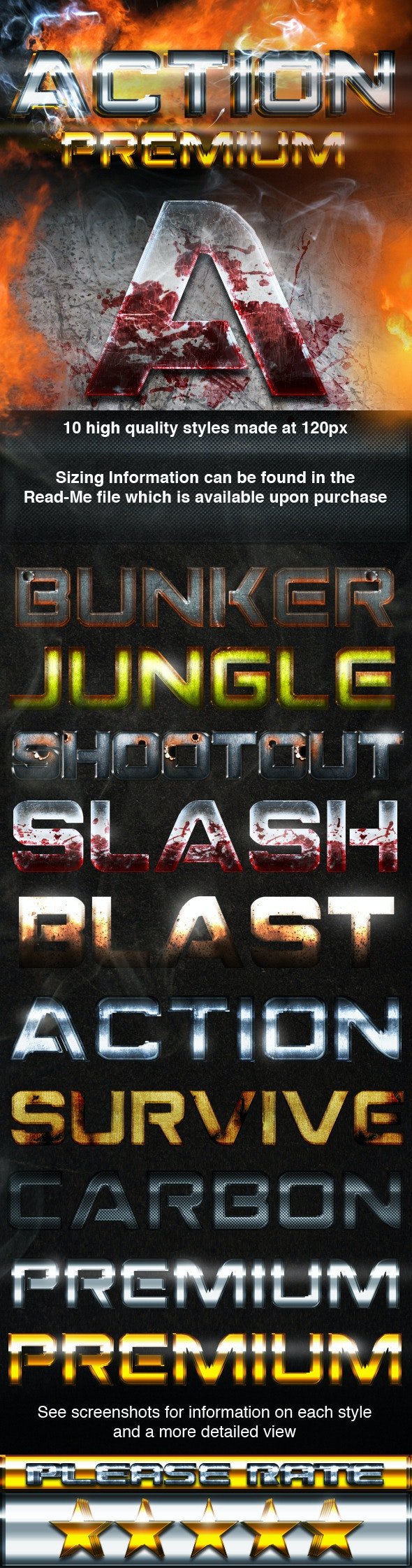 Action Premium Styles - Text Effects Styles