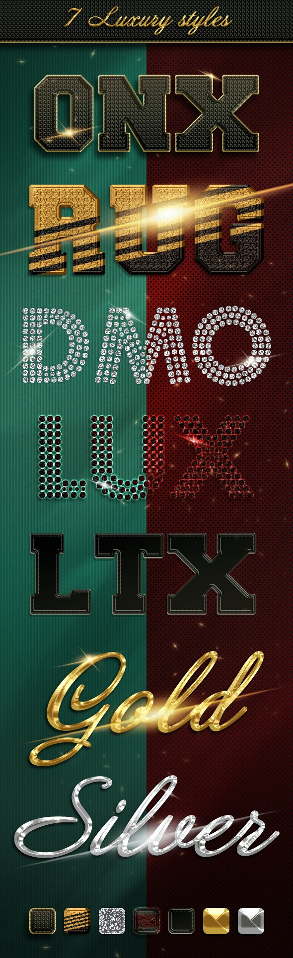 7 Luxury Styles - Text Effects Styles
