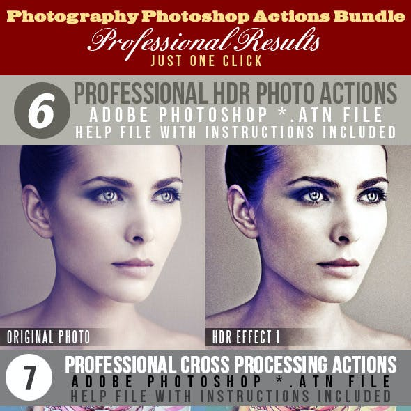 Creative Photoshop Photo Actions Bundle