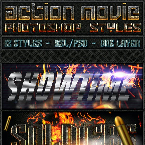 Action Movie - Text Styles