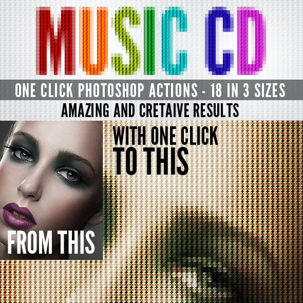 Music CD Photoshop Actions