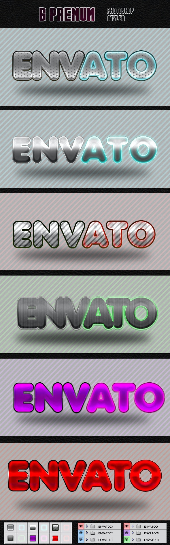 Styles Photoshop - Text Effects Styles