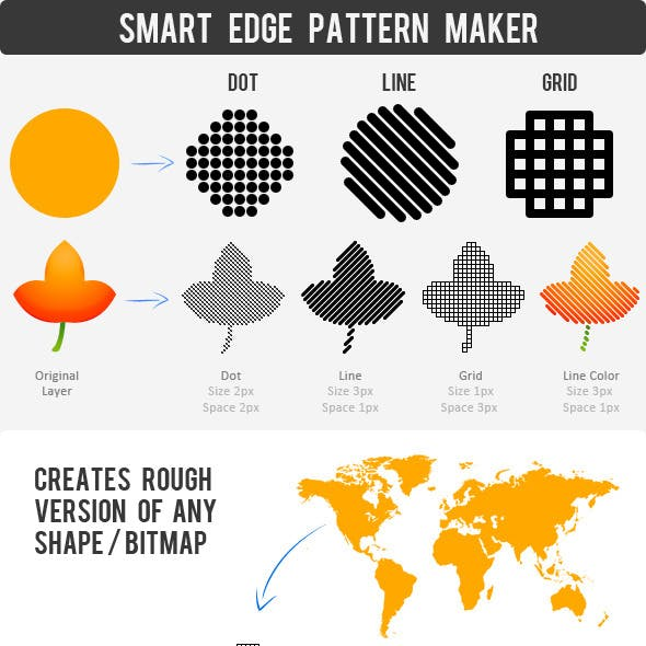 Smart Pattern - Clean Edge Dot, Line, Grid Action