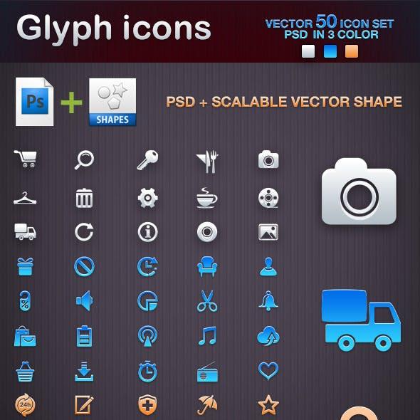 50 Glyph shape