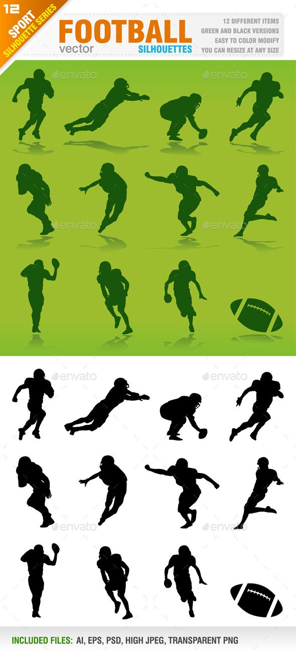 Football Silhouettes - Sports/Activity Conceptual