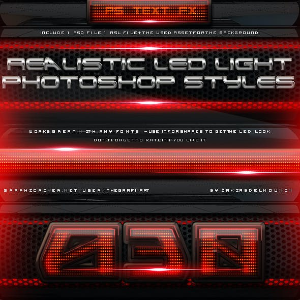 Led Light Layer Styles