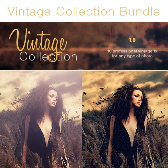 30 Vintage Pro Collection Photo Effects | Bundle