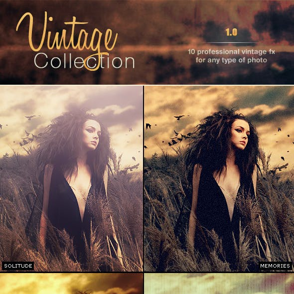 Vintage Pro Collection Photo Effects | Vol 1.0