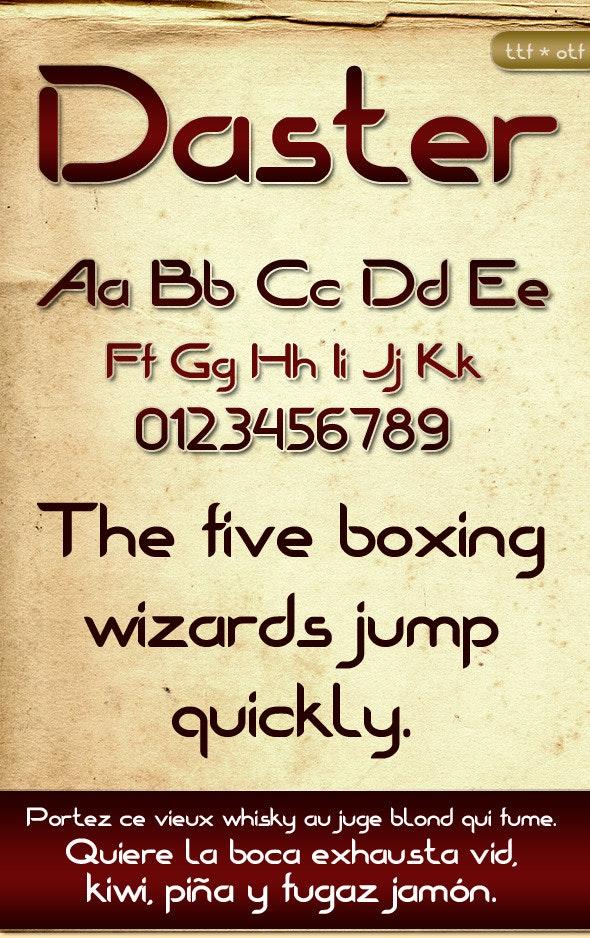 Daster Font - Sans-Serif Fonts