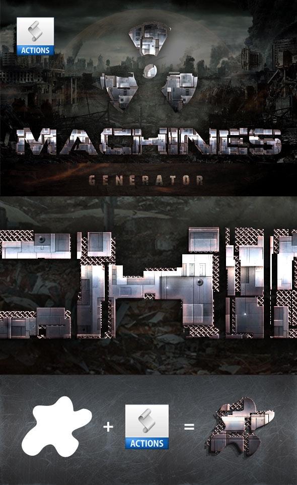 Machines Generator - Actions Photoshop