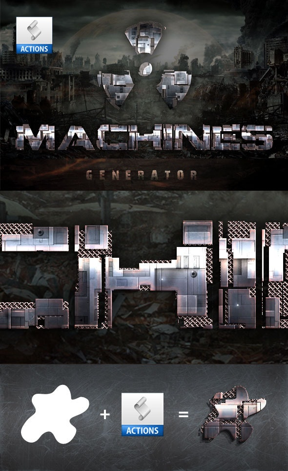 Machines Generator - Actions Photoshop