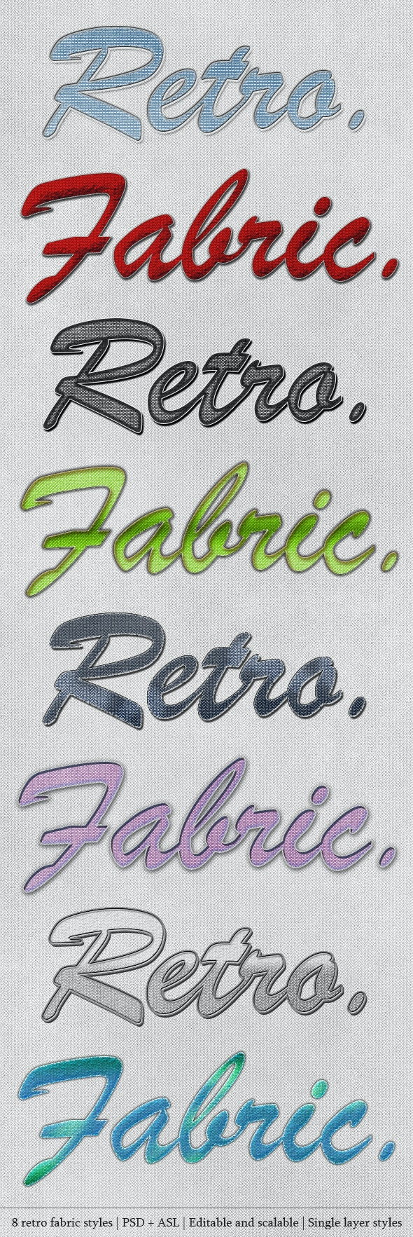 Retro Fabric Styles - Text Effects Styles