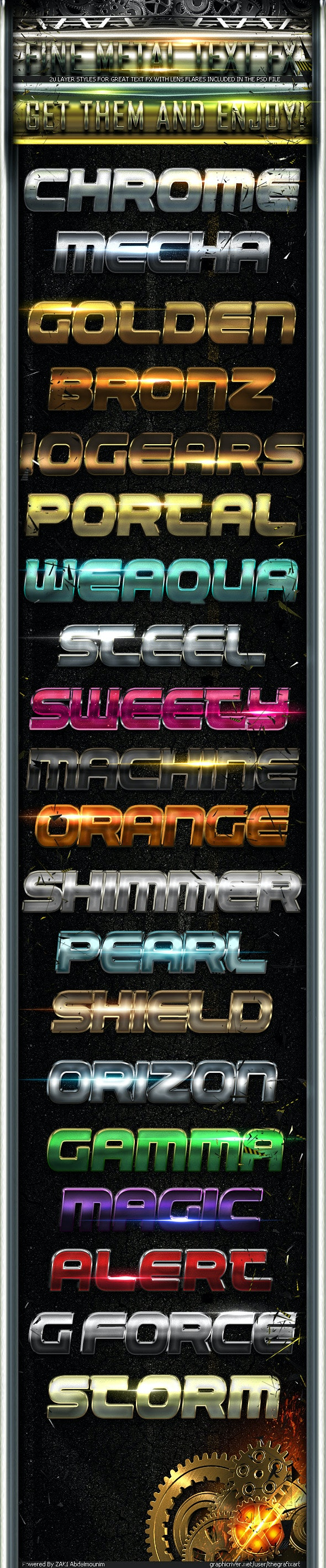 Fine Metal Text FX - Text Effects Styles