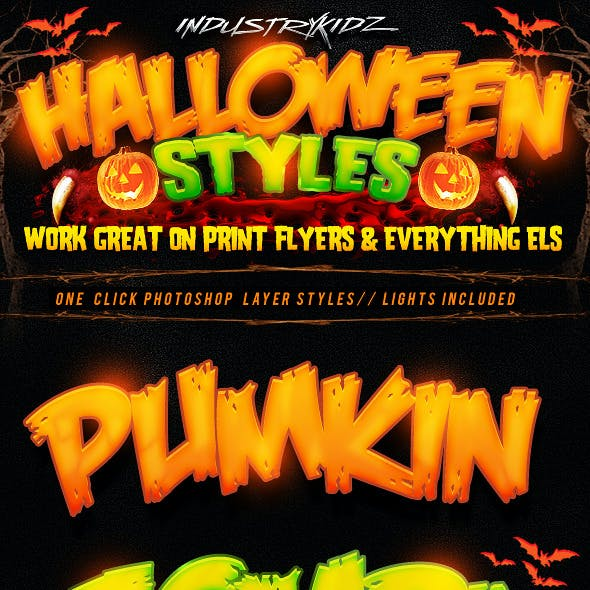 Halloween Photoshop Layer Styles