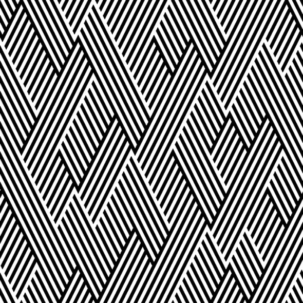 Pattern In Zigzag With Line Black And White - Textures / Fills / Patterns Illustrator