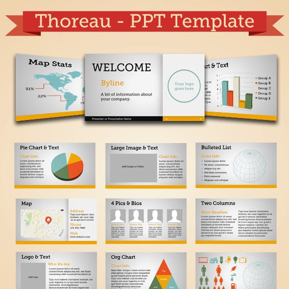 Thoreau - Modern Powerpoint Template