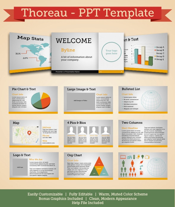 Thoreau - Modern Powerpoint Template - PowerPoint Templates Presentation Templates