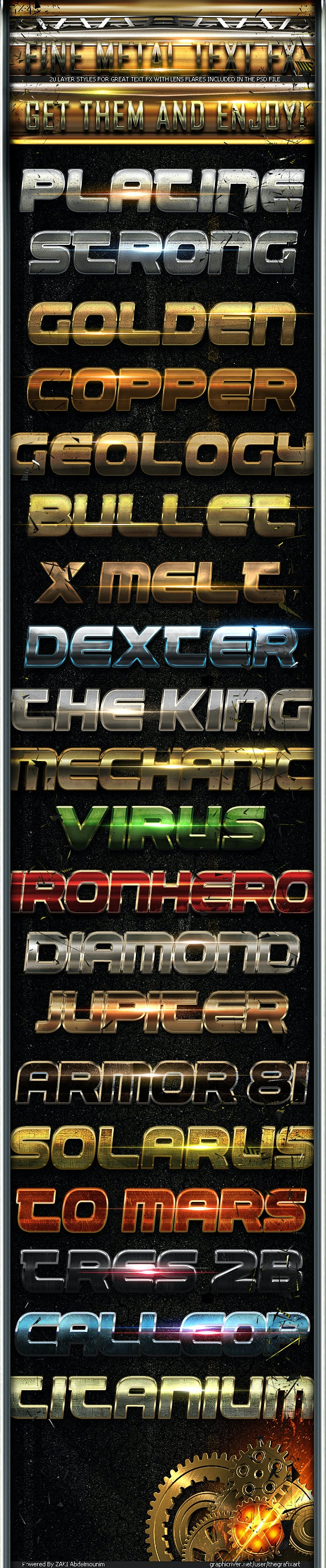 Fine Metal Text FX 2 - Text Effects Styles
