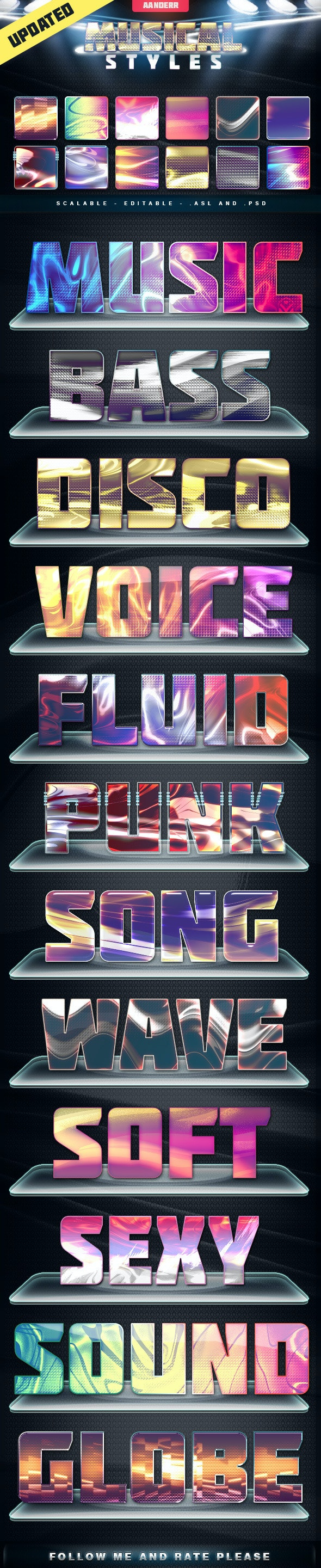 Musical Styles - Styles Photoshop